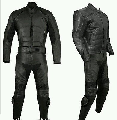 Batman  Motorbike/motorcycle Leather 2Pc Suit - Ce Approved Full Protection