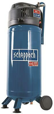 Air Compressor Oil Free 50 Litres Vertical Tank 10 Bar Portable Scheppach Hc51V