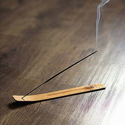 1pc Natural Plain Wood Wooden Incense Stick Ash Catcher Burner Holder 10 inch A+