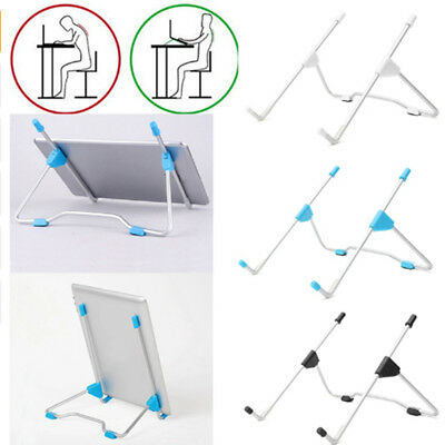 Metal Folding Lap Desk Bracket  Laptop Notebook Bed Table Stand Tray Adjustable