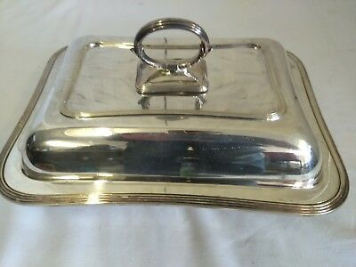11 Inch Silver Plated Serving Dish w/ Lid By William Hutton & Sons