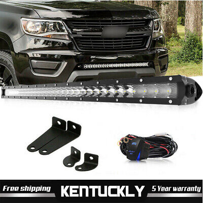 """30"""" Bumper Grille LED Light Bar +  Wiring For Toyota Tacoma GMC Ford Chevrolet"""