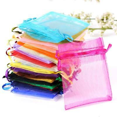 25/50/100 MIXED Organza Gift Bags Jewellery Pouches Wedding Party Candy Favour