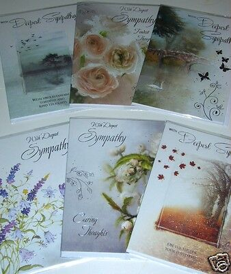 BEAUTIFUL SYMPATHY CARDS just 36p 'ECLIPSE' x144, 12 designs inserts-wrapped