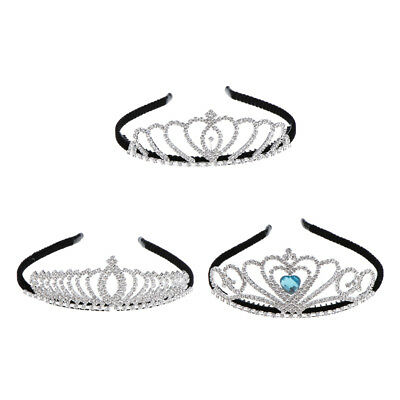 Glitter Crystal Rhinestone Hair Crown Tiara Headband Wedding Bridal Hair Jewelry