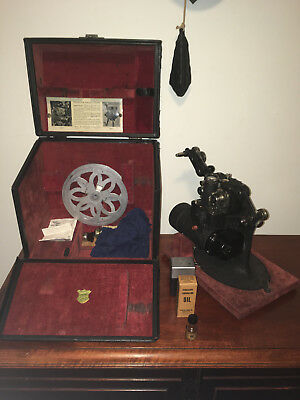 RARE ANTIQUE c1923 BELL & HOWELL FILMO MODEL 57 GJ 16mm ELECTRIC PROJECTOR WORKS