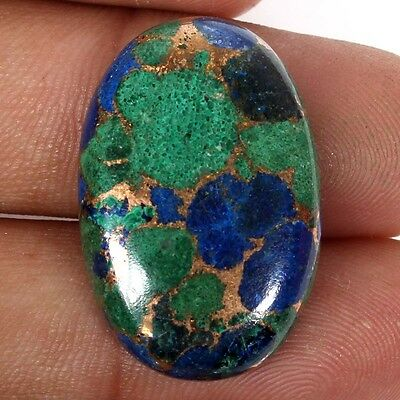 Lovely AZURITE Copper Mohave 27x18 mm Oval Cabochon Top Gemstone 30 Cts S-38070