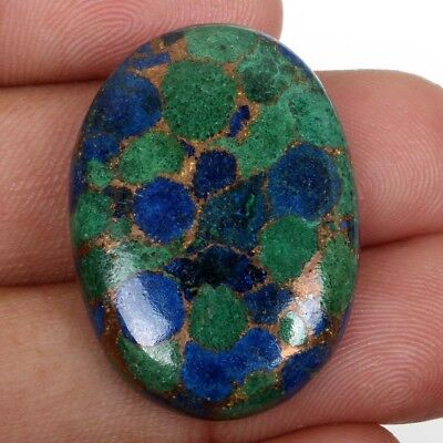 Lovely AZURITE Copper Mohave 30x21 mm Oval Cabochon Gemstone 37.50 Cts S-38063