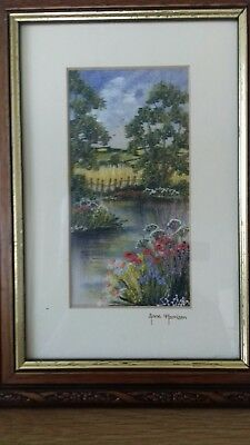 Anne Harrison Picture  (hand painted & embroidered landscapes) Framed and glazed
