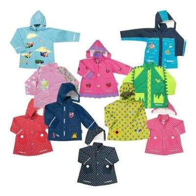 Playshoes Girls Boys Rain Jacket Hood Reflector Raincoat Rain