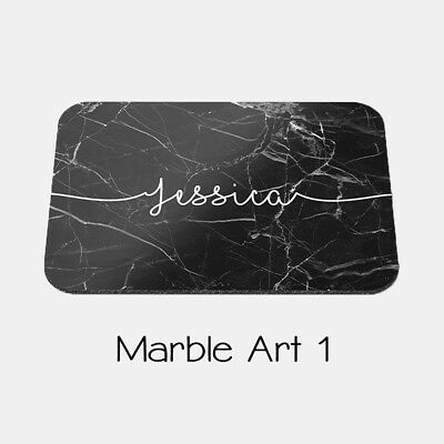 Custom Personalised Mouse Pad- Marble Print with Your Name. Choose From 4 Styles