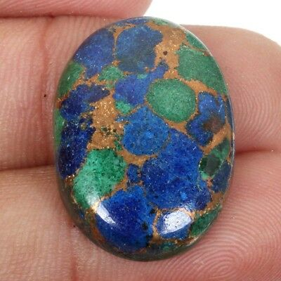 Stunning 23 Cts AZURITE Copper Mohave Oval Gemstone For Ring 23x17 mm S-38072