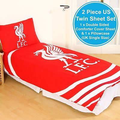 Liverpool Fc Pulse 2 Piece Uk Single / Us Twin Double Sided Sheet And Pillowcase