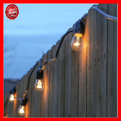 48FT Waterproof Outdoor Commercial Grade Patio Globe Vintage Yard String Lights