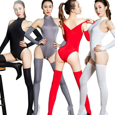 Bodystocking Sexy Coveralls Underwear Overall Catsuit Zipper Clubwear Dessous