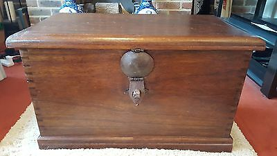 Antique Dovetailed 18th Century Chest Coffer with Candleboxes