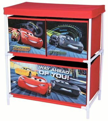 Disney Cars Kids Toy Chest Storage & Organiser Furniture For Bedroom / Playroom