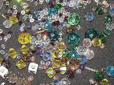 1200 Mixed Lot of Crystal Glass Beads Swarovski, Czech, all Exc. Quality