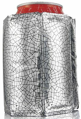 Vacu Vin Rapid Ice Can Cooler Chiller Jacket Sleeve Silver Keep Cooling Elements
