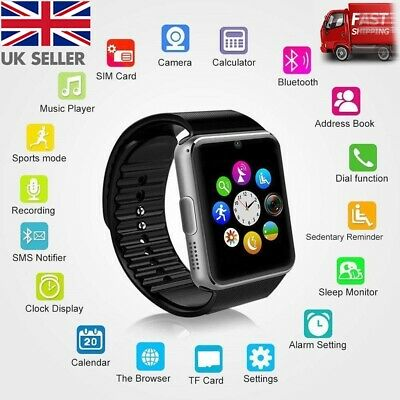 2019 Q18 GT08 Bluetooth Smart Watch For Android iOS iPhone Apple GSM GPRS SIM UK