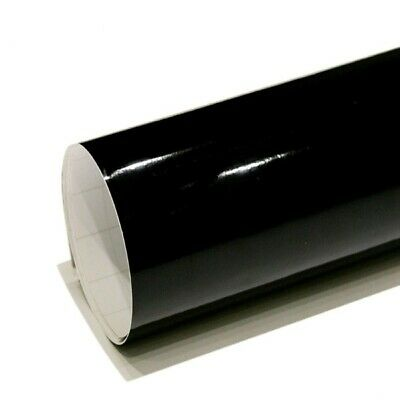 Car Wrap Vinyl Gloss Black Air/Bubble Free Many Sizes Car Motorbike Van