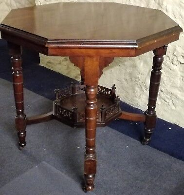 Antique Late Victorian Octagonal Mahogany Table