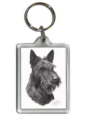 Mike Sibley Scottish Terrier/Scottie Quality Acrylic Keyring 50mm x 35mm - Gift