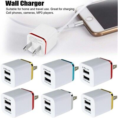 USB Double Wall Fast Charger Plug Adapter 1A 2A 5V For Android / Galaxy / iPhone
