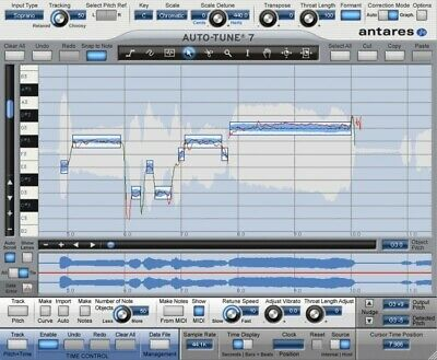 New Antares Auto-Tune 7 TDM Pro Pitch Time Correction Plug-in Mac PC VST AU AAX