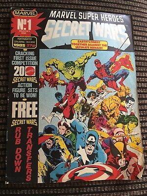 SECRET WARS Comic - No 1 - Date 27/04/1985 - Marvel comic