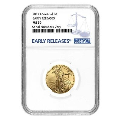 2017 1/4 oz Gold American Eagle NGC MS 70 Early Releases
