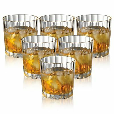 Set Of 6pc 300ml Lined Whiskey Tumblers Drinking Glasses Set Dinner Wedding Xmas