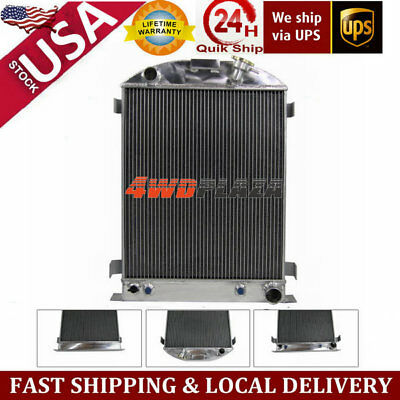 70mm Core 4 Row Aluminum Radiator For 1933-1934 Ford-Grill-Shells Chevy V8-Eng
