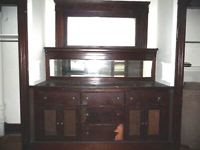 Antique Victorian Style Built-In Buffet Cabinet - 1905 Fir Architectural Salvage