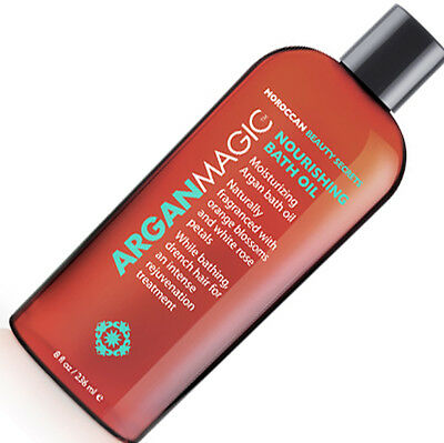 Argan Magic Nourishing Bath Oil 8 oz New & Sealed
