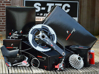 SRAM RED 22 Hydro Disc Gruppe Group BSA Press Fit Kassette Schaltwerk Kurbel