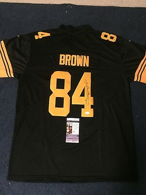 ANTONIO BROWN SIGNED Auto Color Rush Pittsburgh Steelers Jersey JSA ... e30bd1768