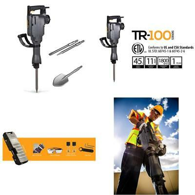 Tr Industrial Tr89100 Electric Demolition Jack With Point Flat And Spade