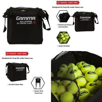 Gamma Sports Ez Travel Cart Pro Ball Hopper Training Aids Tennis Racquet Goods