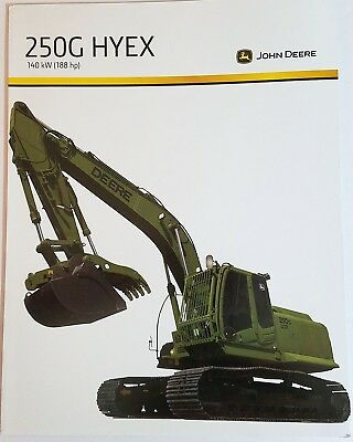 John Deere 250G HYEX Hydraulic Excavator Data Sheet NEW Military