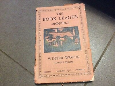 The Book League Monthly Winter Words - Thomas Hardy - December 1928