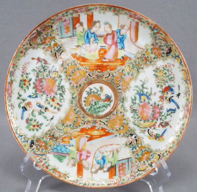 Late 19th Century Hand Painted Famille Rose Chinese Export Rose Medallion Plate