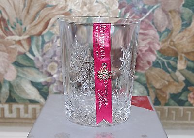 Waterford Crystal Snowflake Wishes Joy 1st Edition Double Old-Fashioned Glass