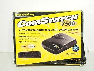 Command Communications Comswitch 7500 4 Port Line Sharing Automatic Switch New