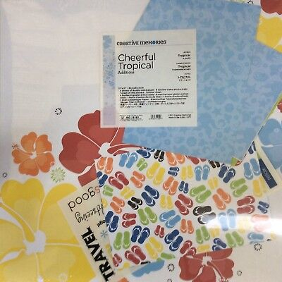 Creative Memories 12 x 12 - ADDITIONS KIT - CHEERFUL - TROPICAL