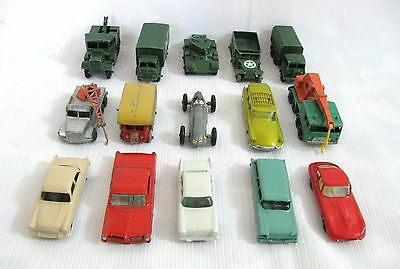 .....LOT of EIGHTEEN VINTAGE MATCHBOX CIVILIAN / MILITARY VEHICLES...
