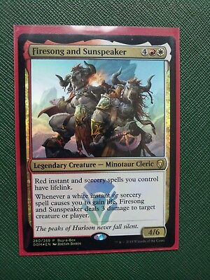 Buy-A-Box Promo Magic mtg Near Mint English Red White Firesong and Sunspeaker