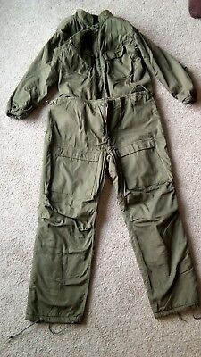 """Vintage GREEN MILITARY """"CHEMICAL PROTECTIVE SUIT"""" LARGE (1062)"""