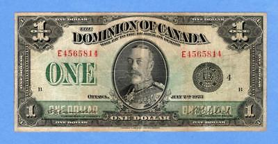 1923 $1 Dominion of Canada, Group 4, Campbell - Clark, (# 2114)