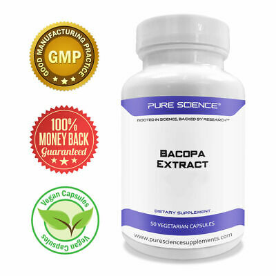 Pure Science Bacopa Monnieri Extract 600mg (S.E. 50% Bacosides 320mg & Bacopa Mo